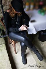 elle248 (Cuir Couple) Tags: leather bondage skirt bdsm master jacket jupe mistress veste leder matre pant pantalon cuero cuir hosen cravache maitresse martinet cuissardes