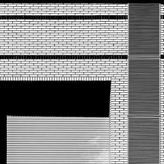 Shadows. (Tomasz Aulich) Tags: city light summer urban white brick architecture buildings shadows geometry poland line balck shape d ksztalty fotografaiaczarnobiala
