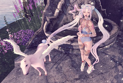 Bubblegum Milkshake () (lulu.frue) Tags: anime cute pegasus olive secondlife kawaii dreamy sailormoon crystalheart fawny ullzang beusy olivehair lulufrue thecrystalheartfestival