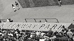 Fenway Park (bpephin) Tags: blackandwhite boston la baseball redsox angels fenway mass dugout bostonredsox mlb