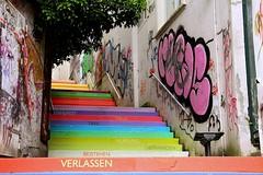 Holsteiner Treppe / AZ (anni,,antoinette) Tags: street city urban streetart art germany graffiti colours citylife az graffity urbanart colourful citystreets wuppertal coloured grafitty streetstyle holsteinertreppe gathe