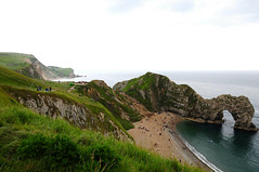 durdle door (-Mina-) Tags: england uk dorset durdledoor coast nature beach cliffs fields grass landscape sea sky travel walk