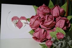 Wedding gifts (talina_78) Tags: wedding roses origami bouquetofroses toshikazukawasaki