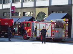 Seattle Fire Department/E27 (zargoman) Tags: seattle water truck fire smoke police hose burning emergency firefighter department firefighters response dispatch