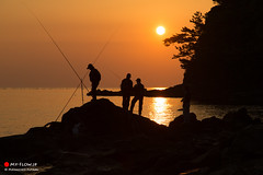 Time With Friends (Masahiko Futami) Tags: ocean sea sky people cloud sun reflection nature silhouette rock japan canon dawn coast photo fishing asia shoot photographer photograph journey 日本 雲 自然 kanagawa 岩 太陽 海岸 海 空 人 友達 神奈川県 シルエット 夜明け 釣り 反射 eos5dmarkiii