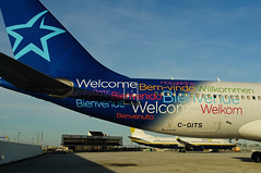 C-GITS (Welcome) (Steelhead 2010) Tags: airbus welcome a330 yyz airtransat creg cgits