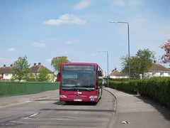 Birchover Road, Bilborough, Nottingham (Lady Wulfrun) Tags: nottingham red mercedes benz mauve 3010 notts citaro alpha4 y28 bilborough b39f yourbus bf62jza birchoverroad