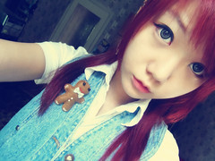 SKYLER'S (24) (LEECHINHWA l skyler) Tags: red cute girl beautiful hair doll pretty mask sweet russia gray korea korean lee kawaii spike uzbekistan chin skyler hwa pika lenses taki takumi bestface chinhwa ulzzang uljjang ohljjang leechinhwa