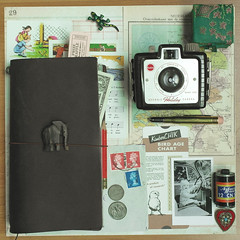 What's in my bag (Krambambuly) Tags: midori travelersnotebook kodakholidaybrownie smashbook