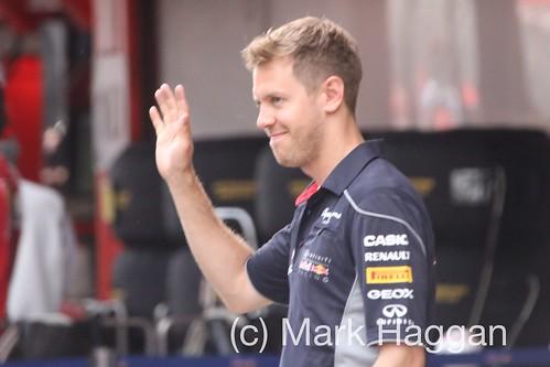 Sebastian Vettel at the 2013 Spanish Grand Prix