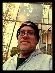 Day 476 - Day 110: At the library (knoopie) Tags: selfportrait me library doug april seattlepubliclibrary year2 capitolhill day110 picturemail singe iphone knoop day476 365days 2013 knoopie 365more 365daysyear2