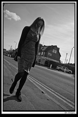 chorlton1 (The_Jon_M) Tags: street uk england urban bw woman girl manchester candid april greater chorlton greatermanchester 2013
