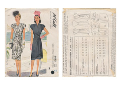 Mccall-6440-Wrap-Dress (kittymeow84) Tags: vintage pattern fifties dress top sewing skirt retro blouse 1940s 1950s custom forties garment kittysdrawings
