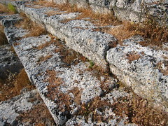 Severe weathered seats stones (Radu Bucuta) Tags: holiday turkey easter dalyan caunos 2013 turcia kaunos