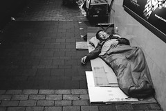 Sleep (b.t.c.) Tags: night sleep homeless streetphotography hong kong x100s