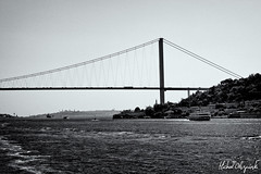 IMG_3068-Edit (Micha Olszewski) Tags: bridge sea water turkey europe istanbul land suspensionbridge bosphorus civilengineering bogazicikoprusu bosphorusbridge landstructures