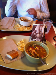 Chicen Tortilla Soup for lunch (SarahO44) Tags: usa chicken america bread lunch island soup united chips mexican rhodeisland newport states rhode tortilla panera