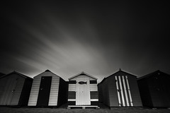 Lazy Jays (MartynHall ) Tags: teignmouth devon long exposure beech hut shed lazy jays coast seaside big stopper 10 ten stop neutral density filter black white dark sepia