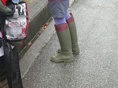 dark green & red brown rain boots () Tags: wellies rainboots stiefel