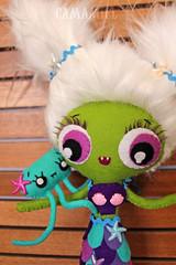 Mambo (Ana Camamiel) Tags: cute doll jellyfish handmade vampire felt kawaii mermaid medusa siren vampira fieltro