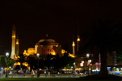Haghia Sofia-2638 (Lilian Levesque) Tags: travel blue light tourism monument night turkey worship asia europe sofia minaret muslim islam istanbul mosque tourist turquie sight turquia worshiper haghia