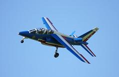 Getting an 'Eiffel' (crusader752) Tags: team display formation aerobatic rafwaddington 60thanniversary alphajet patrouilledefrance dassaultbreguet 2013 armeedelair frenchairforce no953