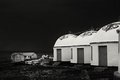Motel Mongolian Style  L1004643 (Dai Luo) Tags: china camera leica wild sky storm contrast photography 50mm hotel mongolia isolation lonely monochrom fullframe grassland