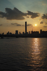 Setting Sun (guen-k) Tags: japan tokyo toyosu kotoku     dp2merrill