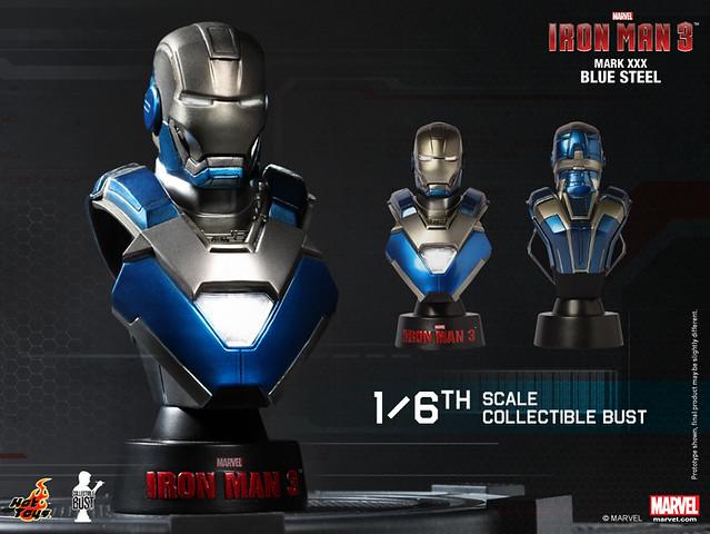 Hot Toys – 鋼鐵人3 1/6 比例胸像系列登場!