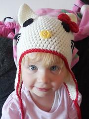 Hello Kitty crochet hat (loopy lou designs) Tags: hello hat patterns crochet kitty