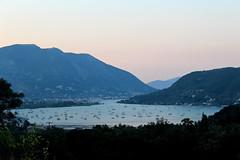 Vlicho, (Alessan1111) Tags: blue sea panorama holiday tourism beach landscape island bay boat mediterranean ship view greece ioniansea lefkas lefkada vlicho