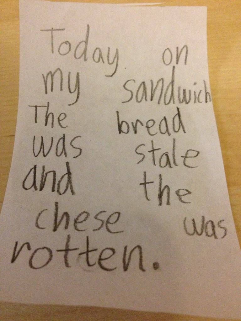 Today on my sandwich the bread was stale and the chese was rotten.