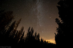 Breckenridge Sky (Rado Photo) Tags: trees red sky nature night clouds way stars woods nikon colorado angle wide astronomy wilderness nikkor breckenridge milky rado 28g d700 1424mm