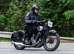 BSA 500 S-31-9 OHV (1931) (The Adventurous Eye) Tags: classic cars race climb do hill motorcycles 500 veteran bsa ohv 2013 zvody vrchu s319 brnosobice