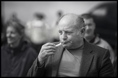 Loves his chips (Frank Fullard) Tags: street ireland portrait irish strand mono candid frenchfries chips fries mayo doolough erris belmullet fullard geesala frankfullard