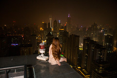 Om the edge (PhoenixRoofing164) Tags: china roof girl night landscape model view shanghai edge roofing