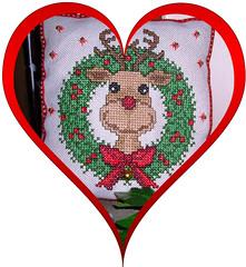 Rudolph (Regine1959) Tags: christmas xmas weihnachten crossstitch rudolph rentier handcraft sticken xstitch handarbeit reindear kreuzstich