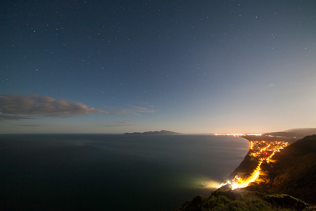 Kapiti coast at night