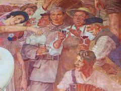 """""""Allégorie du vin"""" (détail), François-Maurice Roganeau (1883-1973), Foyer sud, Bourse du Travail (1938), cours Aristide Briand, Bordeaux, Gironde, Aquitaine, France. (byb64) Tags: france painting frankreich europa europe wine 33 1938 bordeaux eu peinture vin francia pintura vino ue vendanges fresque décor beauxarts artdéco aquitaine gironde aquitania burdeos allégorie boursedutravail vendimias akitania gironda aquitanien prixderome françoismauriceroganeau"""