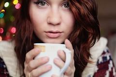 #Flickr12Days (Kelcie1) Tags: christmas selfportrait cup coffee girl beauty gold eyes focus warm serious christian mug selfie warmtones goldeyes fouc flickr12days