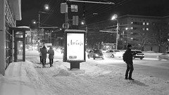 winter (Victor Yastrebov) Tags: street city winter bw snow evening frost streetphotography 20
