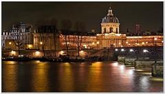 L'institut de France (Geoffroy65) Tags: paris seine architecture night geotagged nuit longexposures laseine poselongue