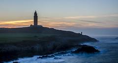 Atardecer junto a la Torre de Hércules (Julieta Portel) Tags: longexposure sunset lighthouse night faro mar day cloudy galicia atlántico acoruña océano cantábrico torredehércules bestofblinkwinners blinksuperstars