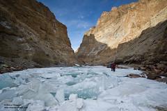 A section of torn ice sheet on the Chadar (Bharat Baswani) Tags: trek zanskar kashmir ladakh chadar