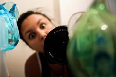 O.O (TheJennire) Tags: camera portrait me girl face canon cores bathroom photography mirror photo eyes funny colours foto olhos colores ojos 365 fotografia camara 365days