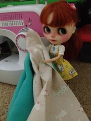 Verne has chosen her fabrics