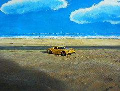 1966 Lamborghini Miura 1/64 Scale By Maisto With Small Plastic Toy Bull : Diorama - 17 Of 21 (Kelvin64) Tags: scale by toy with small bull 1966 plastic 164 lamborghini diorama miura maisto {vision}:{outdoor}=097 {vision}:{clouds}=0949 {vision}:{sky}=0978 {vision}:{sunset}=0572
