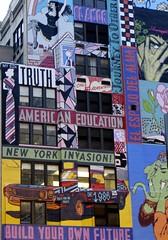street art (saudades1000) Tags: nyc streetart ny art colorful wallart colorscolorido messagesonwall