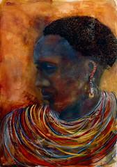 """Mulher do Quenia"" (Sandra Filardi) Tags: brasil mulher cor negra pintura telas aquarela qunia sandrafilardi"
