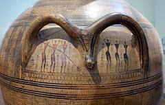 Figures below handles, Dipylon Amphora, c. 755-750 B.C.E.